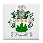Monticelli Family Crest Tile Coaster