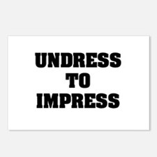 """""""Undress To Impress"""" Postcards (Package of 8)"""