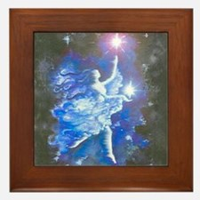angel in Blue Framed Tile