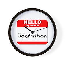 Hello my name is Johnathon Wall Clock
