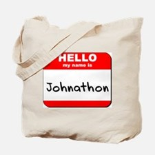 Hello my name is Johnathon Tote Bag