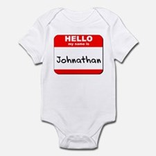 Hello my name is Johnathan Infant Bodysuit