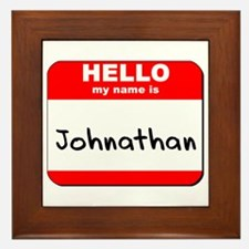 Hello my name is Johnathan Framed Tile