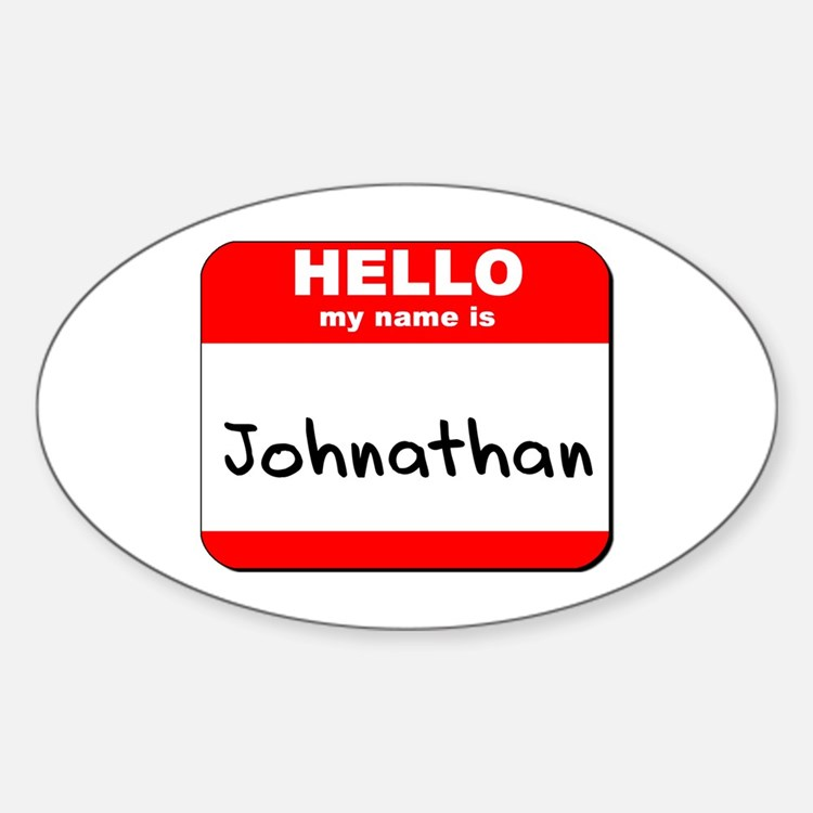 Hello my name is Johnathan Oval Decal