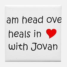 Unique I heart jovan Tile Coaster