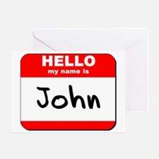 Hello my name is John Greeting Card