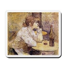 The Hangover (Woman Drinking) Mousepad