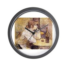 The Hangover (Woman Drinking) Wall Clock