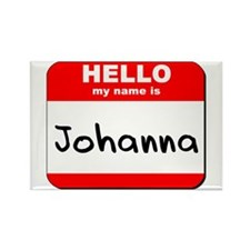 Hello my name is Johanna Rectangle Magnet