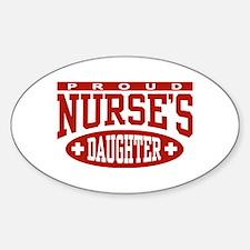 Proud Nurse's Daughter Oval Decal