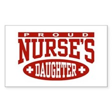 Proud Nurse's Daughter Rectangle Decal