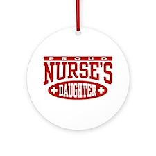 Proud Nurse's Daughter Ornament (Round)