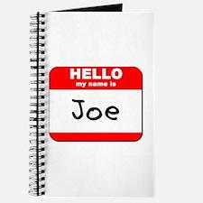 Hello my name is Joe Journal