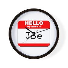 Hello my name is Joe Wall Clock
