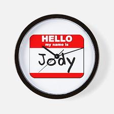 Hello my name is Jody Wall Clock