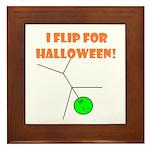 I FLIP FOR HALLOWEEN Framed Tile
