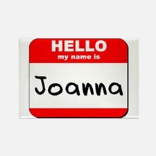 Hello my name is Joanna Rectangle Magnet