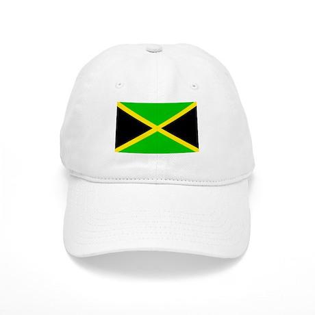Rasta Gear Shop Jamaican Flag White Cap