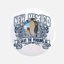 """Save the Penguins New Mexico 3.5"""" Button"""