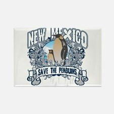 Save the Penguins New Mexico Rectangle Magnet