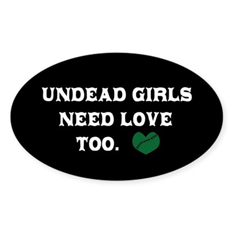 Undead Love Oval Sticker (10 pk)