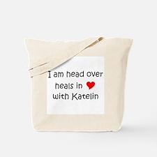 Funny I love katelin Tote Bag