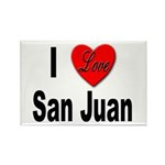 I Love San Juan Puerto Rico Rectangle Magnet (10 p