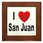 I Love San Juan Puerto Rico Framed Tile