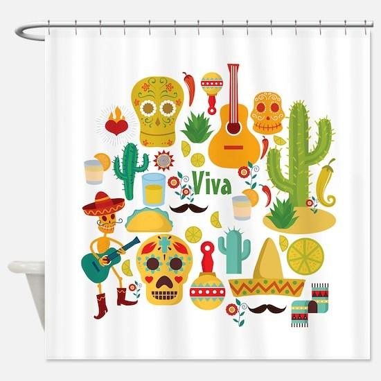 viva mexico Shower Curtain