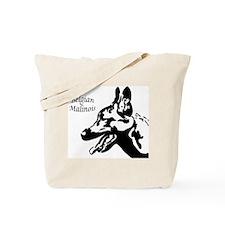 Malinois Silhouette Tote Bag