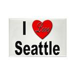 I Love Seattle Rectangle Magnet (10 pack)