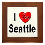 I Love Seattle Framed Tile