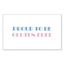 Proud to be Gluten-Free Rectangle Decal