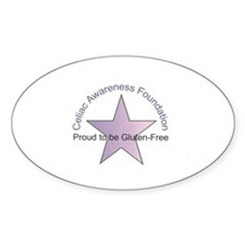 Celiac Disease Awareness Oval Decal