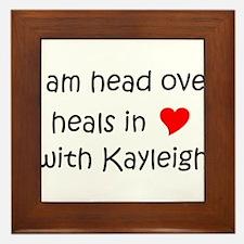 Cute Kayleigh Framed Tile