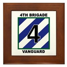 "4th Brigade ""Vanguard"" Framed Tile"