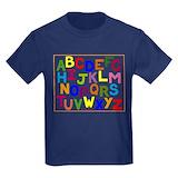 Alphabet Kids T-shirts (Dark)