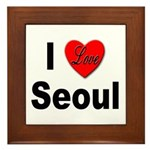 I Love Seoul South Korea Framed Tile