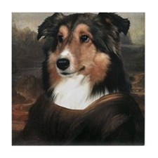 Sheltie MONA LISA Tile Coaster