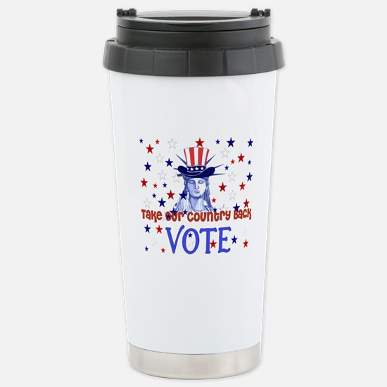 Vote Election 2008 Stainless Steel Travel Mug