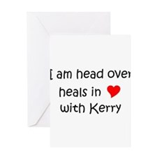Funny I heart kerry Greeting Card