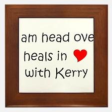 Cute I heart kerry Framed Tile