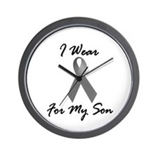 I Wear Grey For My Son 1 Wall Clock