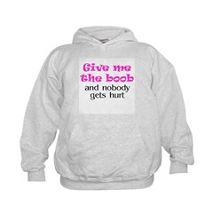 Give me the boob - pink Hoodie