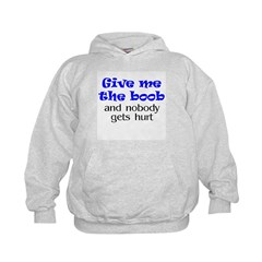 Give me the boob - blue Hoodie