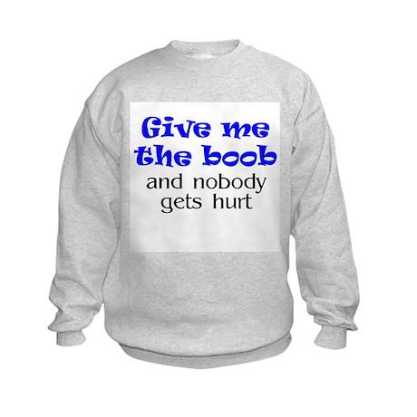 Give me the boob - blue Kids Sweatshirt