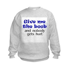 Give me the boob - blue Sweatshirt