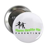 """Happy Healthy Hip 2.25"""" Button (100 pack)"""