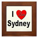 I Love Sydney Framed Tile