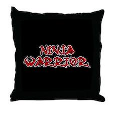 Ninja Warrior Throw Pillow